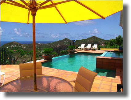 View from a villa in St. Barts, French Caribbean